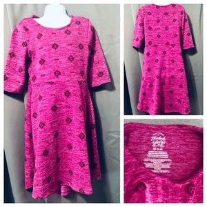 EUC Girls Pink with designs size 7/8